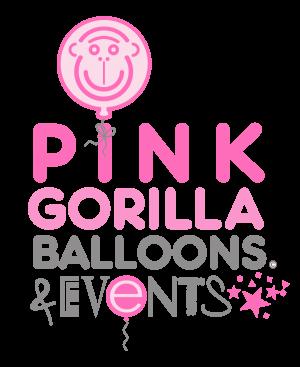 Pink Gorilla Balloons Logo